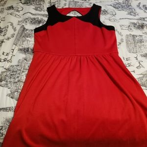 Jessica Simpson red and black dress
